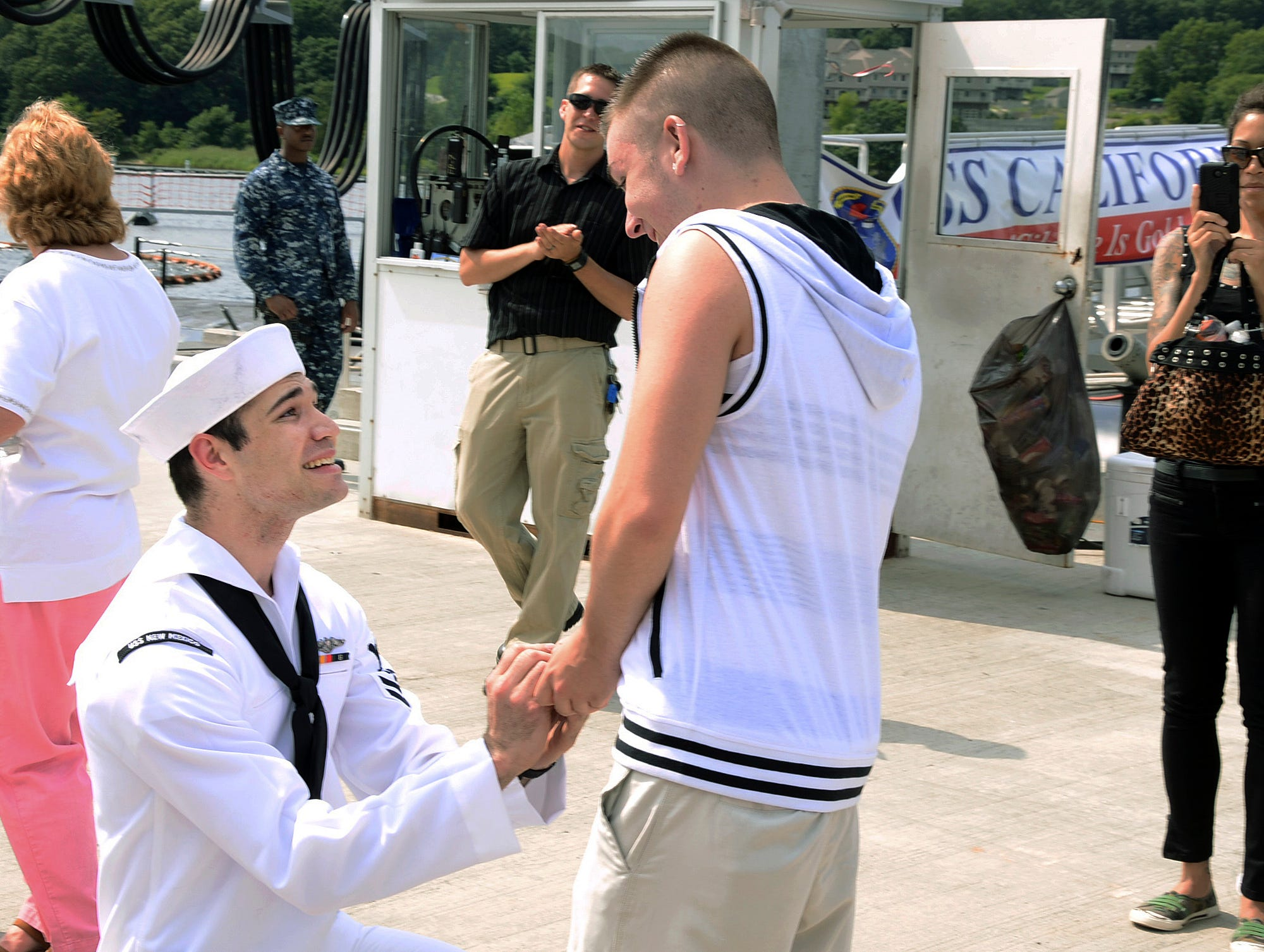 Submarine Deployment Marriage Proposal