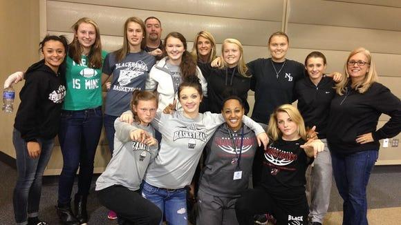 North Buncombe's girls basketball team.