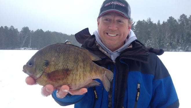 Phil Schweik's with his catch in January 2015.