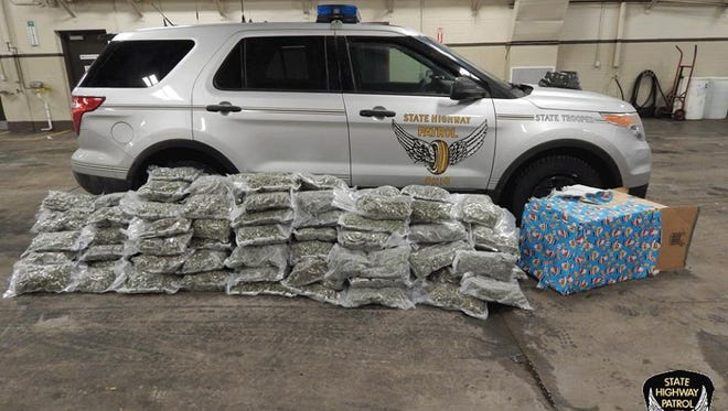 January 29, 2015: Troopers seize 235 pounds of pot during a Lorain County traffic stop.