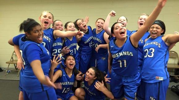 The Smoky Mountain girls basketball team.