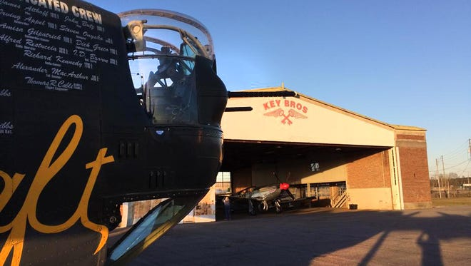 Vintage aircraft at Key Brothers Hangar in Meridian, Miss. Saturday, March 7.