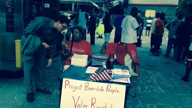 During protests in August following the shooting death of Michael Brown, activists sought to register voters. Ferguson held its first municipal election since Brown's shooting on April 7, 2015.