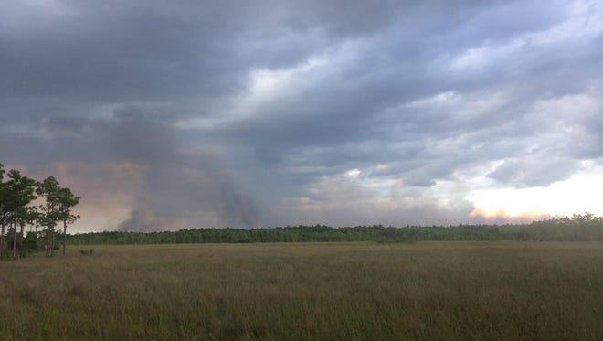 A fire in the Big Cypress Natural Preserve east of Naples has been producing smoke since the first of five fires ignited May 8.
