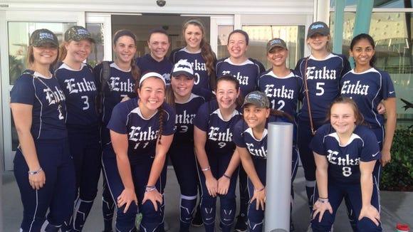 The Enka softball team.