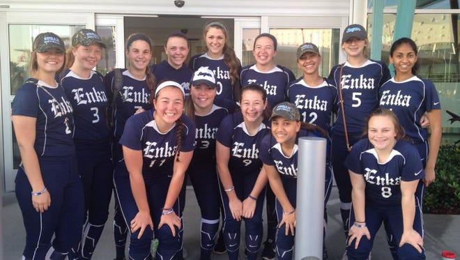 Enka's NCHSAA 3-A championship softball team.