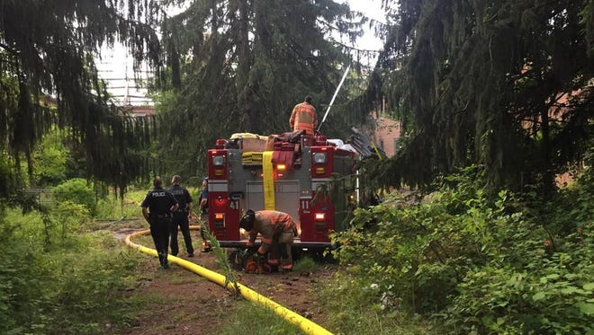 Fairview Fire District responded to a fire at the former Hudson River Psychiatric Center Friday morning.