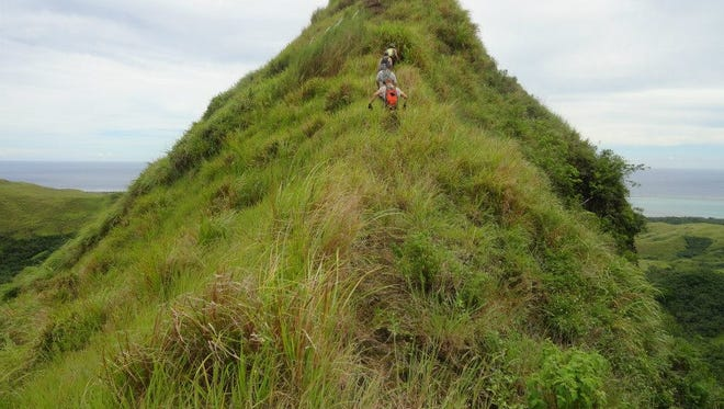 Though rated very difficult, a hike to Mt. Finansanta offers great views of Guam.