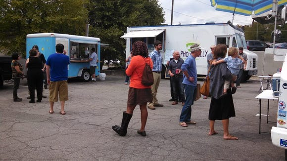 The food truck lot at 51 Coxe. Ave.