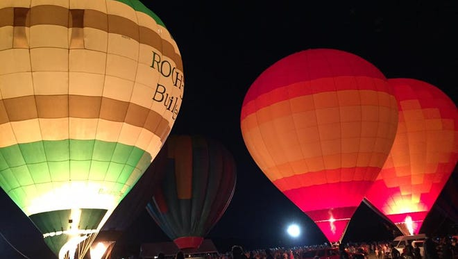 2015 Music City Hot Air Balloon Festival at Percy Warner Park in Nashville.