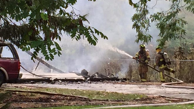 Multiple fire departments responded to the structure fire in Ripon on Sept. 23.