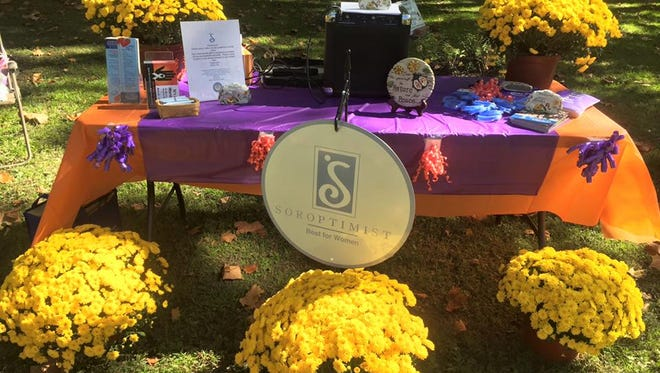 Soroptimist International Cumberland County held a domestic violence awareness event at the Peace and Tranquility Garden in Bridgeton on Oct. 11.