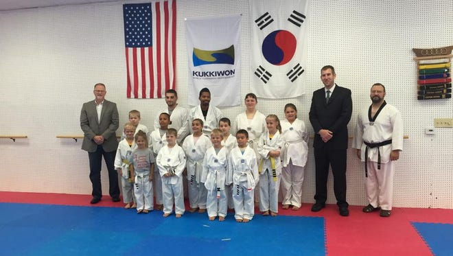 Members of the Traditional Taekwondo class at Five Rings Martial Arts recently took part in promotion testing.