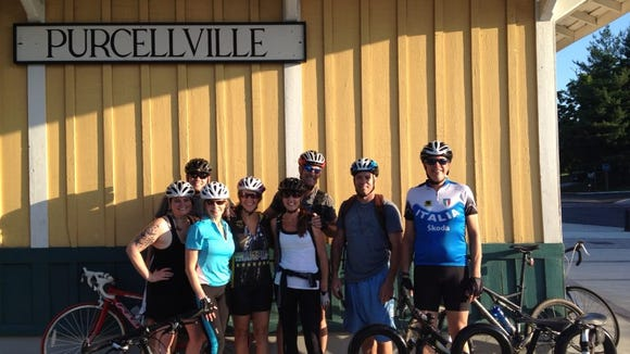 My old Leesburg biking crew. I'm the one with the tattoos