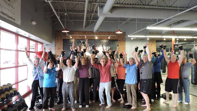 Attendees of the first Parkinson's Association of the Rockies class hosted at Title Boxing Club in Fort Collins.