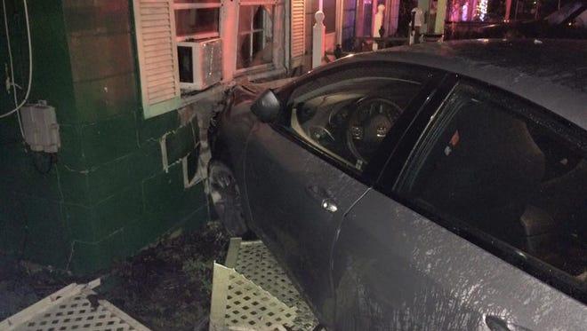 A car crashed into a Salisbury home on Christmas Eve.