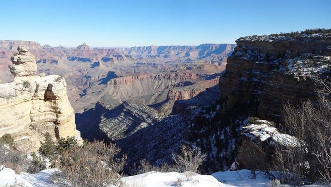 Sections of the Grand Canyon's North Rim highway were closed for the winter as of Tuesday, the Arizona Department of Transportation said.