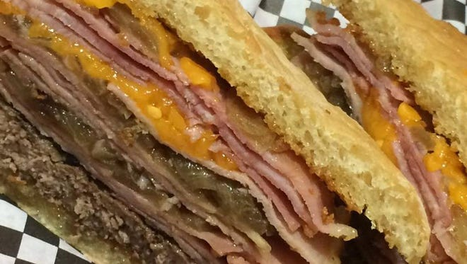 The Trumpburger at Winterset's Northside Cafe.