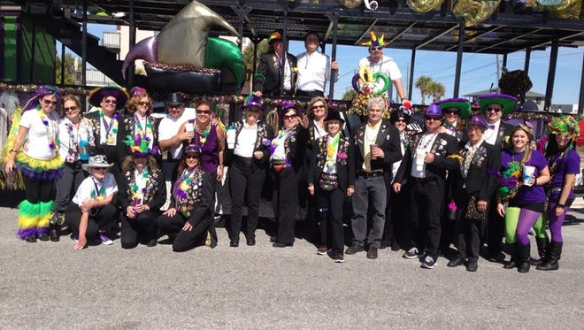 The Navarre Krewe of Jesters is celebrating 30 years and presents its annual Mardi Gras Parade on Saturday.