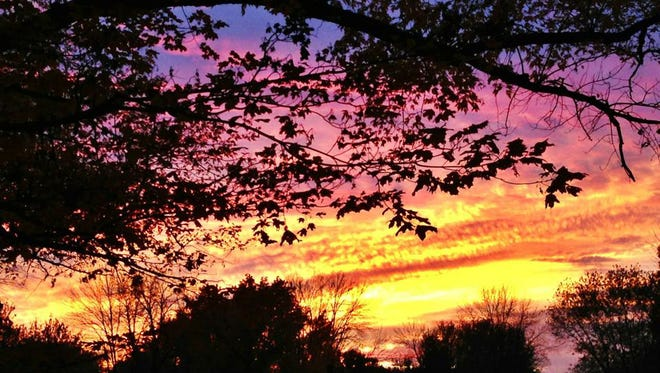 A sunset captured by Jenny LaBalme of Indianapolis.
