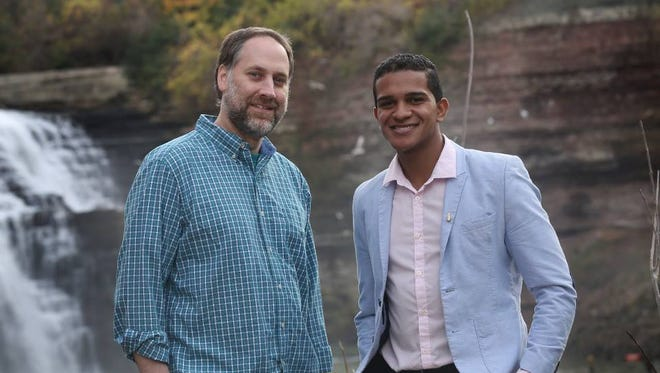 Joel Helfrich and Jericcson Pachardo, prospective founders of the Rochester River Charter School.