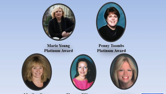 These agents from Coldwell Banker's Basking Ridge office earned the NJR 2015 Circle of Excellence Sales Award.