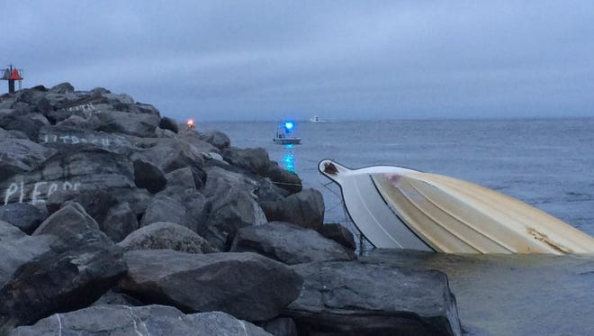 One woman is missing after a boat with 11 passengers capsized in Destin.