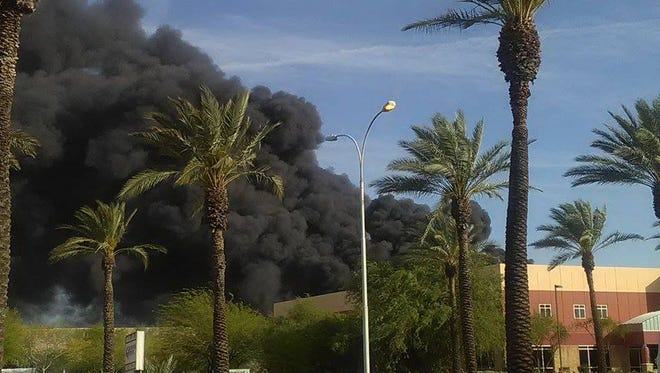This photo of the fire was taken by Tonya Pinnt from between University and I-10.