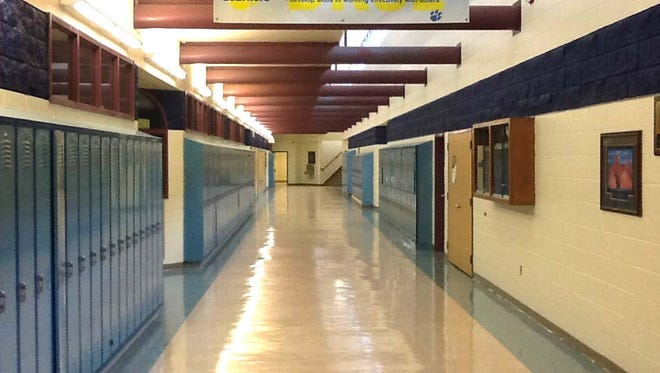 The halls of Enterprise High School sit empty in this Spectrum & Daily News file photo