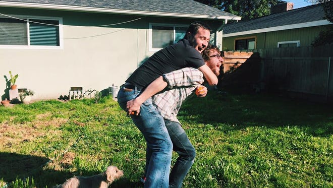 As much as it may appear I carry my older brother Nick, he really carries me.