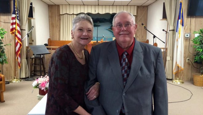 Gary Davis, right, and his wife Vickie Davis. Gary Davis is the new pastor at the Happy Valley Baptist Church.