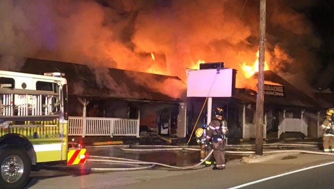 Officials say a body was discovered inside a burned restaurant Thursday in Branson.