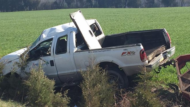 A pickup truck was involved in a vehicle crash Friday morning along Route 15 in Straban Township. The road was closed until about 11:55 a.m.