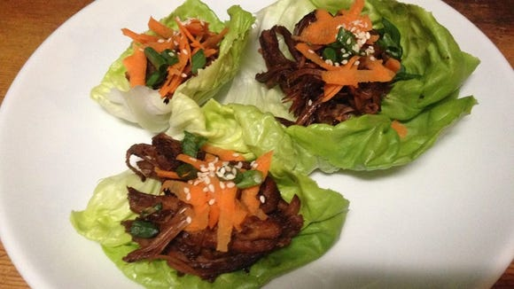 Ginger molasses pork lettuce wraps, served at the Old 10 Bistro.