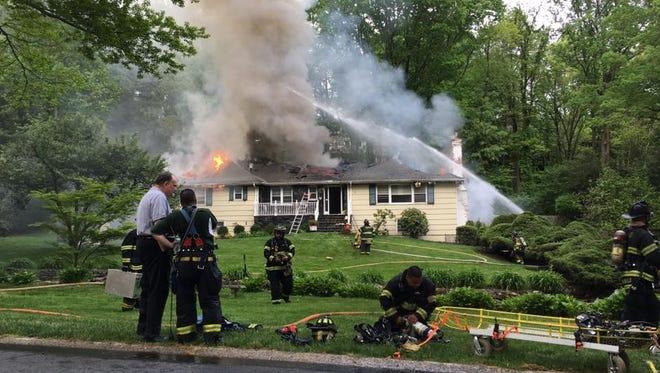 A fire at 16 Glen Park Rd. in Harrison