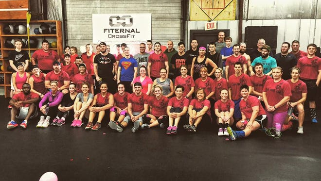 Participants at Fiternal CrossFit