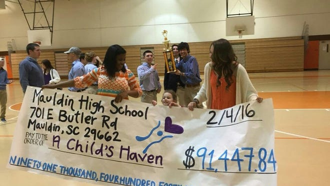 A co-president of her student class at Mauldin High, Khendra Witt helped lead the school into raising more than $91,000 during Spirit Week for A Child's Haven.