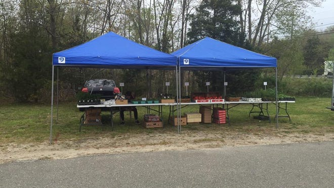 Moore's Market stand at Berkeley Township's Farmer's Market, held on Tuesdays at the Recreation Center on Route 9.