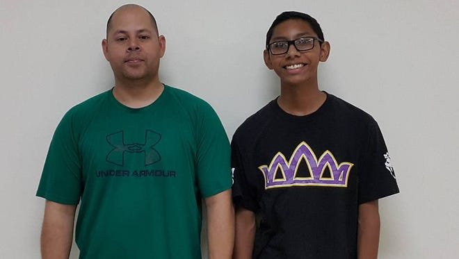 Paul Thompson, left, won the June Budweiser King of the Lanes title while Noah Taimanglo, right, claimed the June Budweiser Prince of the Lanes crown.