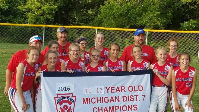 The St. Clair 12 and under softball team is playing in the state tournament this weekend