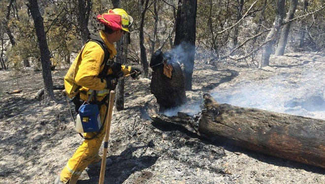 Salinas firefighters respond to a past wildland fire.