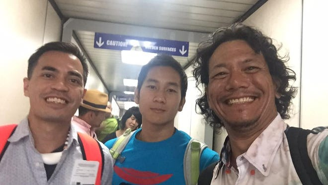 Jojo Santo Tomas traveled to the 2016 Rio Olympics with Derek Mandell, left, and Joshua Ilustre. Santo Tomas suffered a bad case of jet lag from the trip.