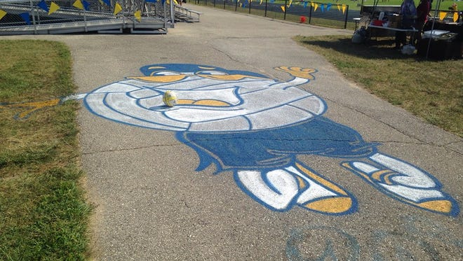 The entrance to the 25th Volleygrass Tournament at Port Huron Northern.