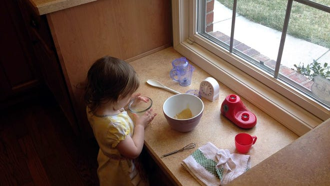 Getting your child cooking early is a way to get real help in the kitchen and also involve them in lunch choices, meaning they're likely to try and enjoy more foods.