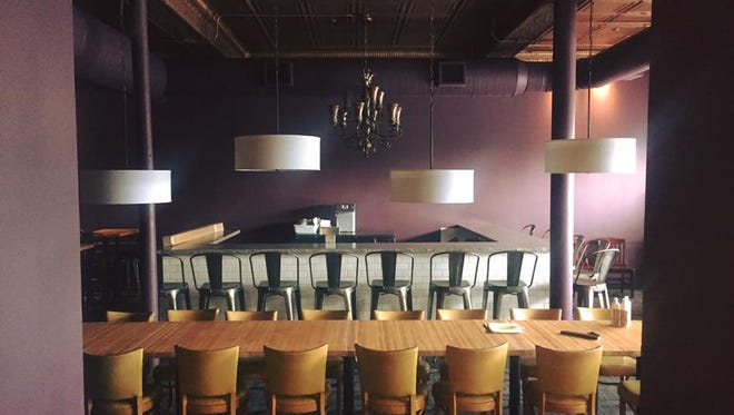 Seating includes a communal table at Tofte's Table. The restaurant by Jason and Cristina Tofte debuts Aug. 30 at 331 Riverfront Plaza in Waukesha.