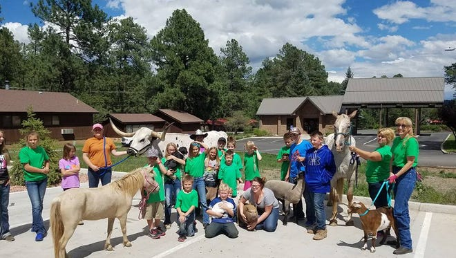Capitan 4-H members held a fair day at the Goodlife Assisted Living Center Aug. 19.