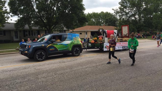 The Farm Technology Days 2017 Float cruises through Luxemburg during the Kewaunee County Fair parade on July 17.