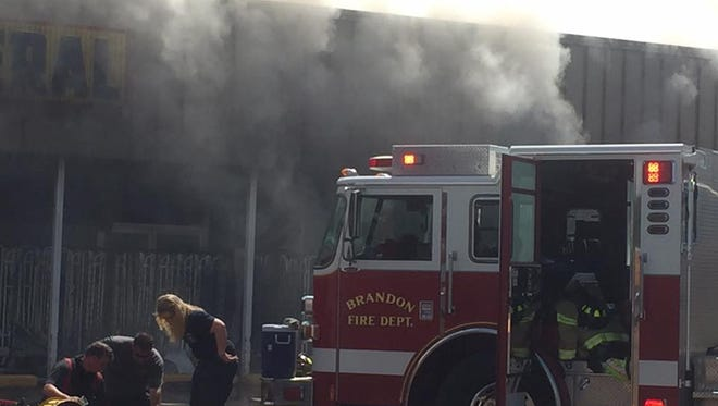 Fire crews were called to the scene of a fire at Dollar General in Brandon just before 2 p.m. Saturday.
