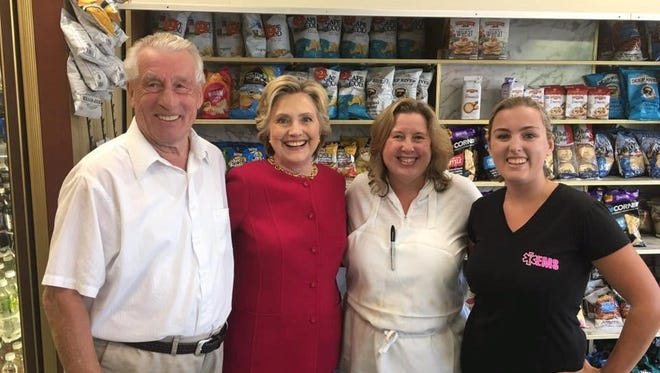 Hillary Clinton visits Lange's Little Store on Sept. 7. 2016