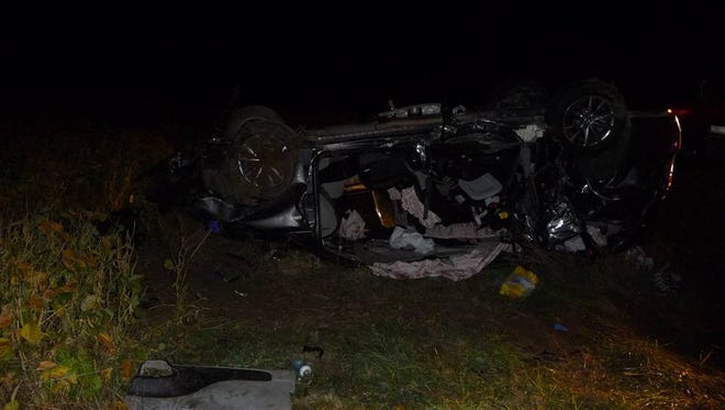 Sanilac Sheriff deputies responded to a two-car crash last night.
